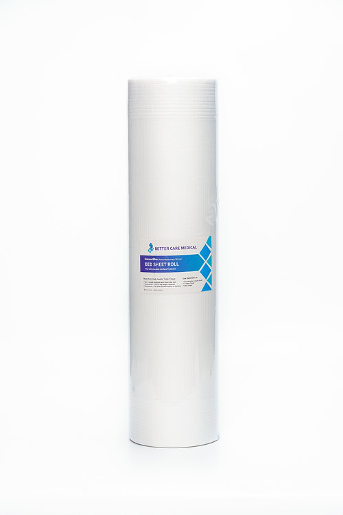 Bed Sheet Roll 54cm x 80m Perforated; white