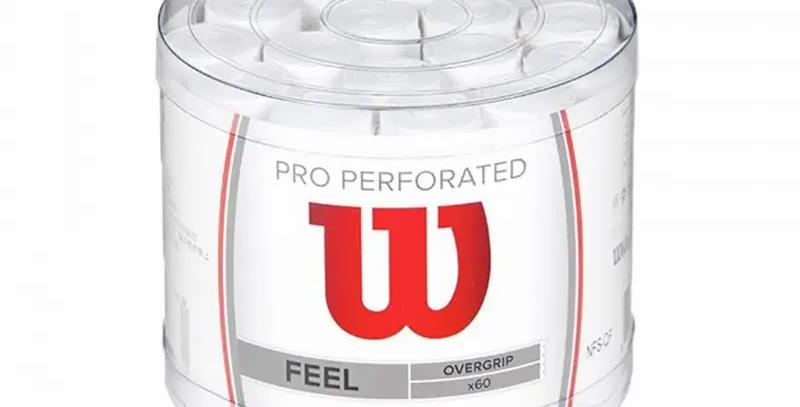 Tarro 60 Overgrips Wilson Pro Perforado Blanco