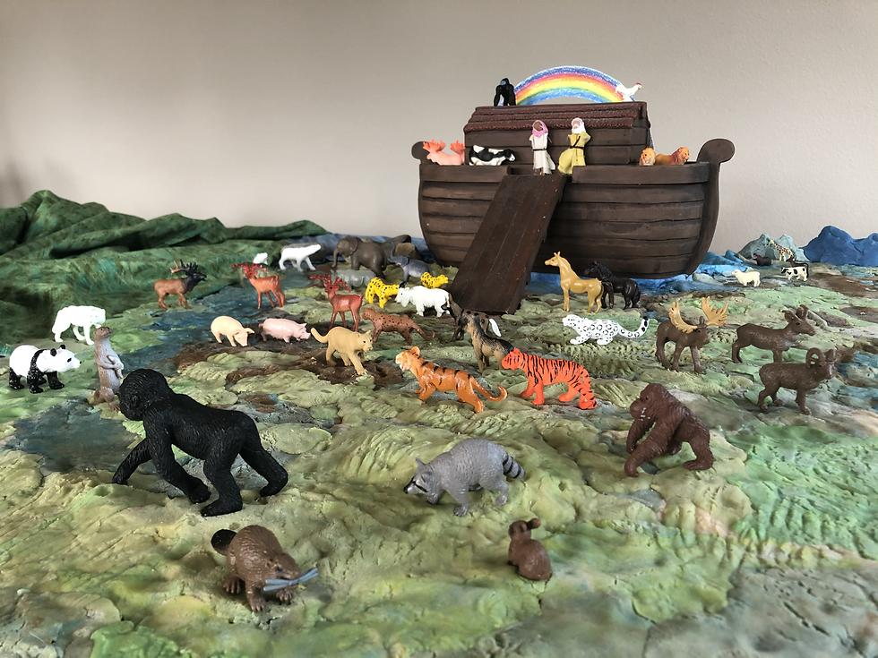 Noah unloading the Ark.HEIC