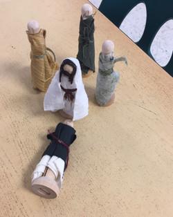 Jairus falling at Jesus feet