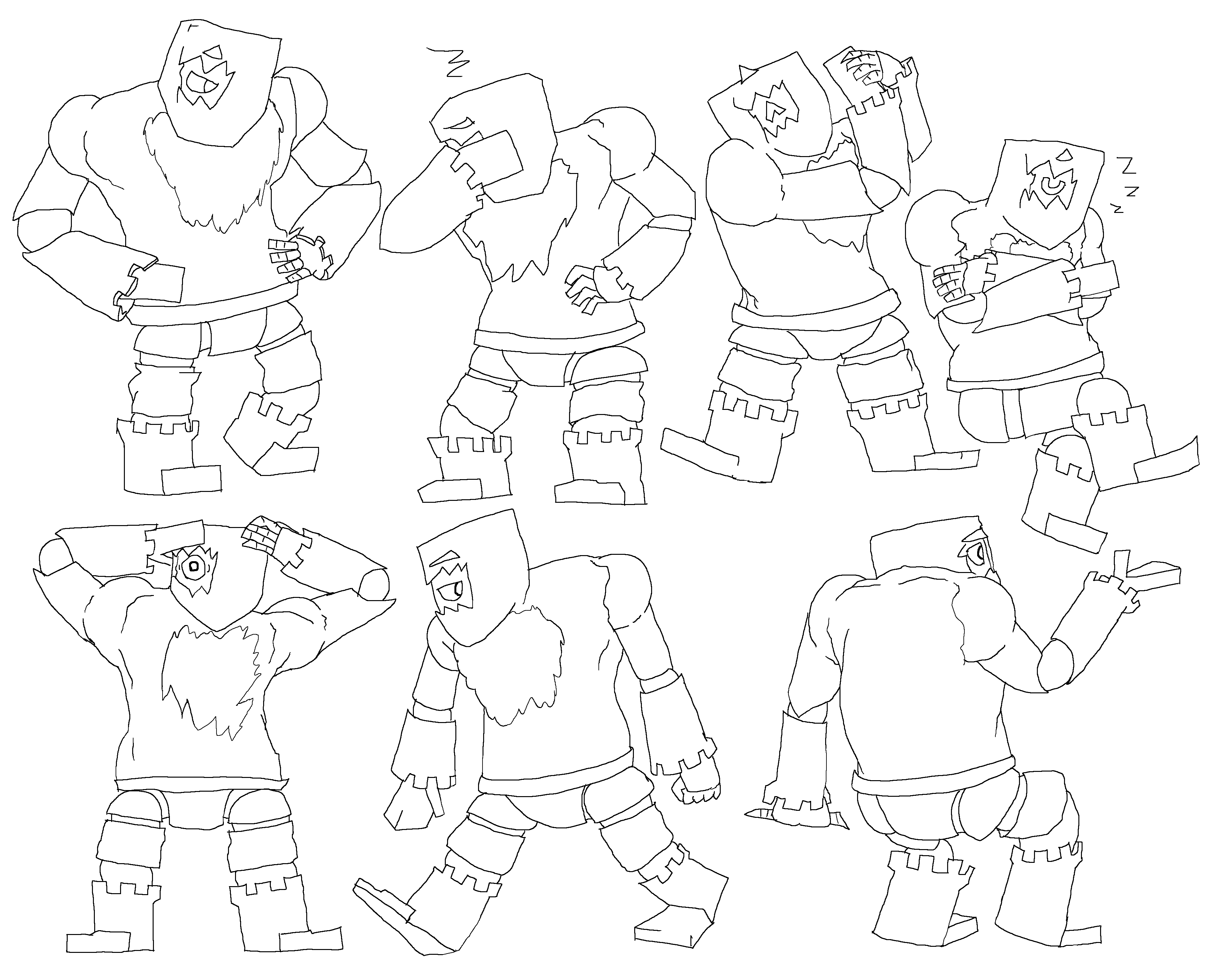 Rockland Character Poses
