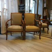 Paire de fauteuils Empire