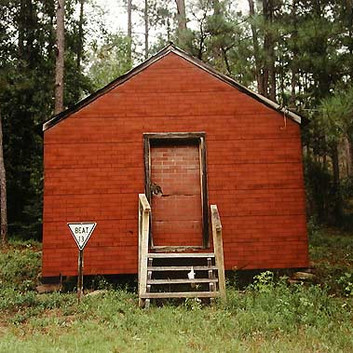 William Christenberry, Red Building in Forest, Hale County, Alabama, 1994
