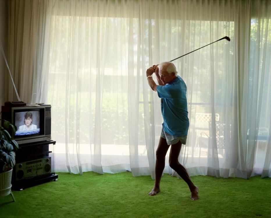 Larry Sultan, Practicing Golf Swing, 1986