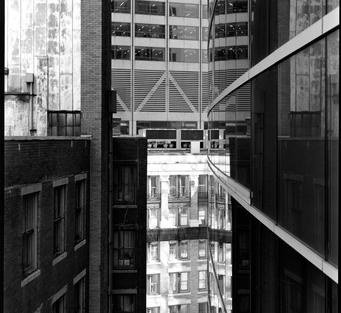 Nicholas Nixon, View of Arch Street, Boston, 2008