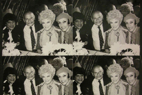 Andy Warhol, Phyllis Diller with Man and Two Women, 1976-86