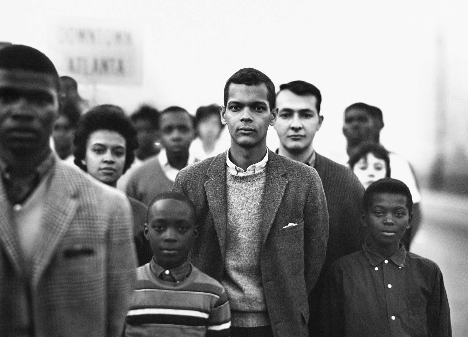 Richard Avedon, Student Non-violent Coordinating Committee headed by Julian Bond, Atlanta, Georgia, March 23, 1963