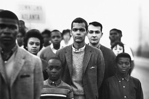 Richard Avedon, Student Non-violent Coordinating Committee headed by Julian Bond, Atlanta, Georgia, March 23, 1963