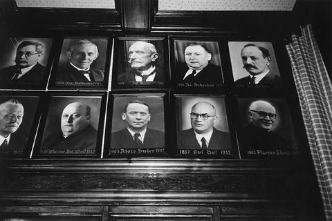 Robert Frank, Hotel in Weggis, Swiss Government Officials, n.d.