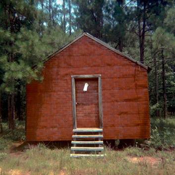 William Christenberry, Red Building in Forest, Hale County, Alabama, 1974
