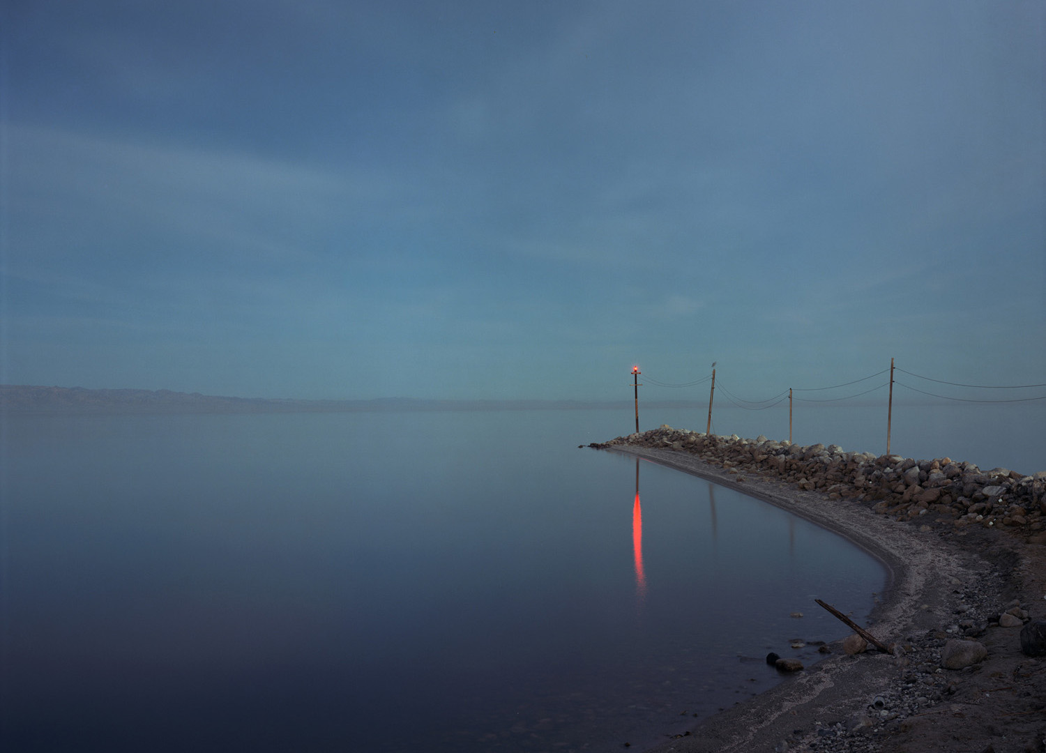 Richard Misrach, Red Beacon, Salton Sea, 1985