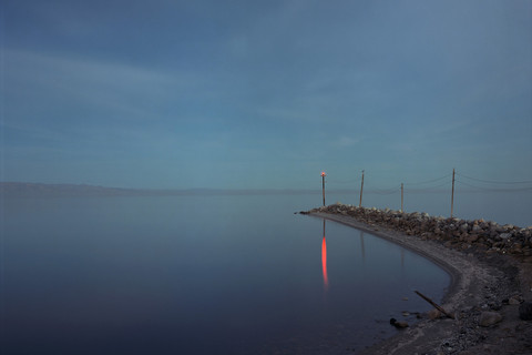 Richard Misrach, Red Beacon, Salton Sea, 1985