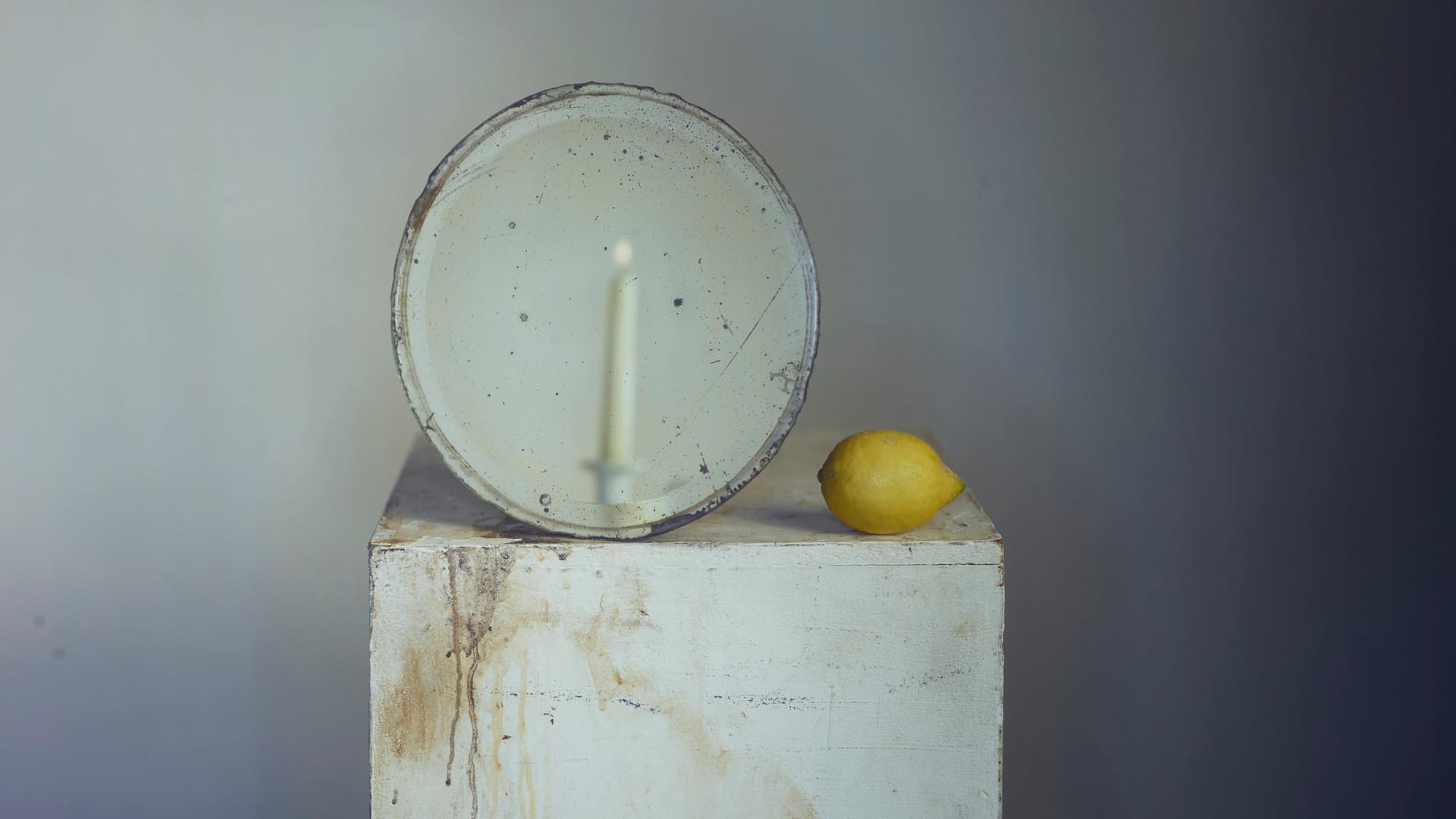 Richard Learoyd, Lemon, Mirror, Candle 4, 2019