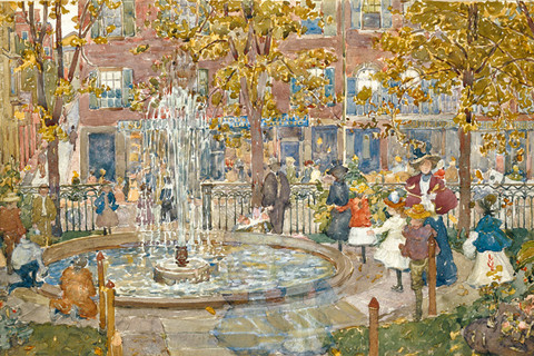 Maurice Prendergast (1858-1953), The Fountain, Boston, 1900-01
