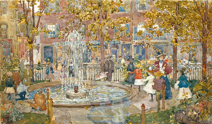 Maurice Prendergast (1858-1953), The Fountain, Boston, 1900-01