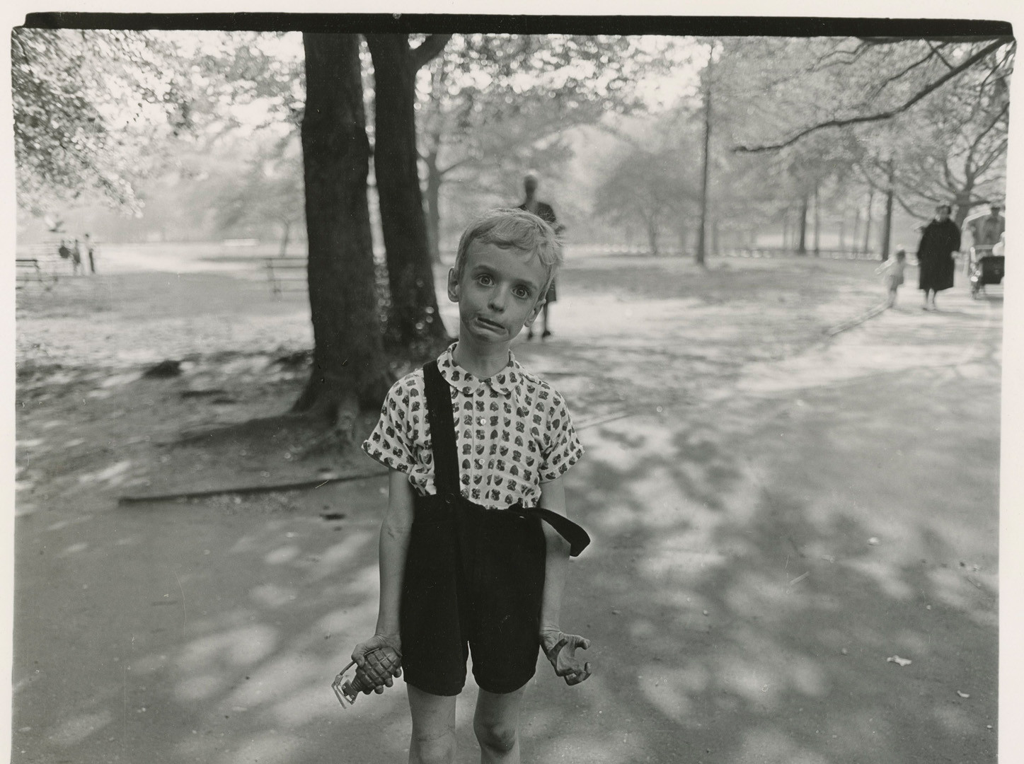 Diane Arbus, Child with a toy hand grenade in Central Park, N.Y.C., 1962