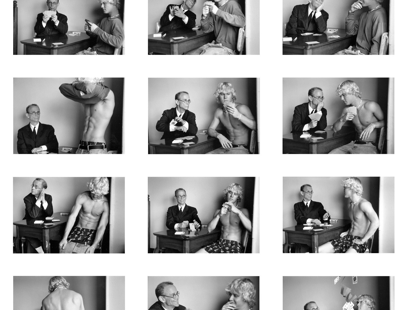Duane Michals, Cavafy Cheats Playing Strip Poker, 2003-5