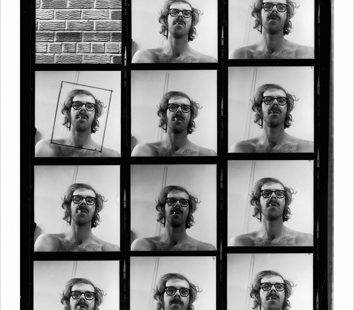 Chuck Close, Self-Portrait Contact Sheet, 1999