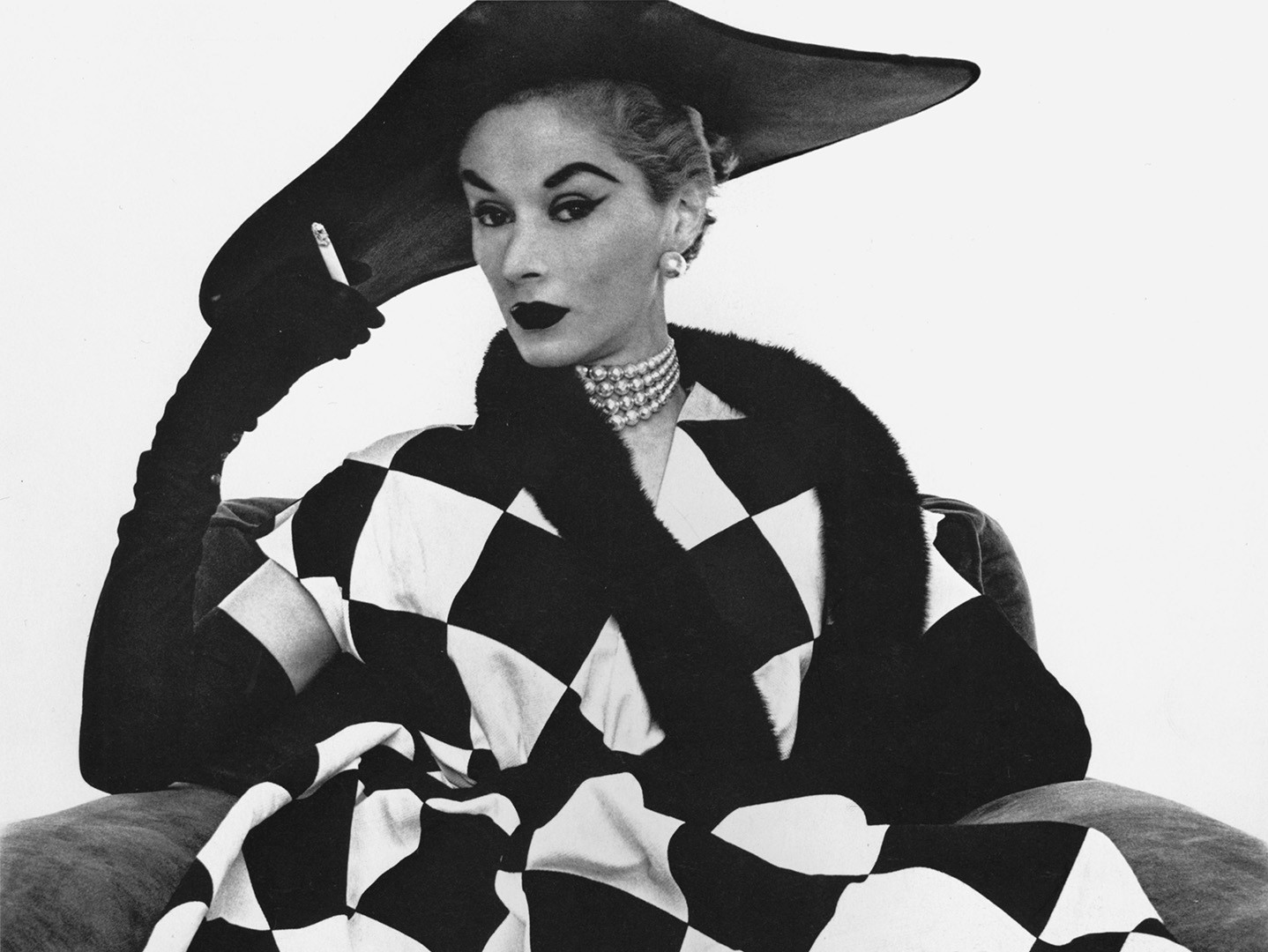Irving Penn, Harlequin Dress (Lisa Fonssagrives-Penn), New York, 1950