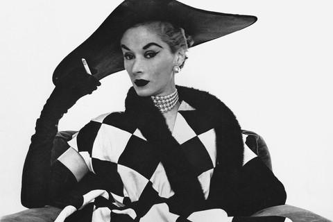 Irving Penn, Harlequin Dress (Lisa Fonssagrives-Penn), New York, 1950