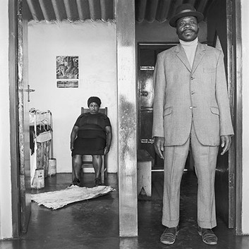 David Goldblatt, George and Sarah Manyani at home, Emdeni Extension, Soweto. , 1972