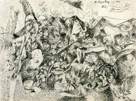 Jackson Pollock, Untitled, 1938