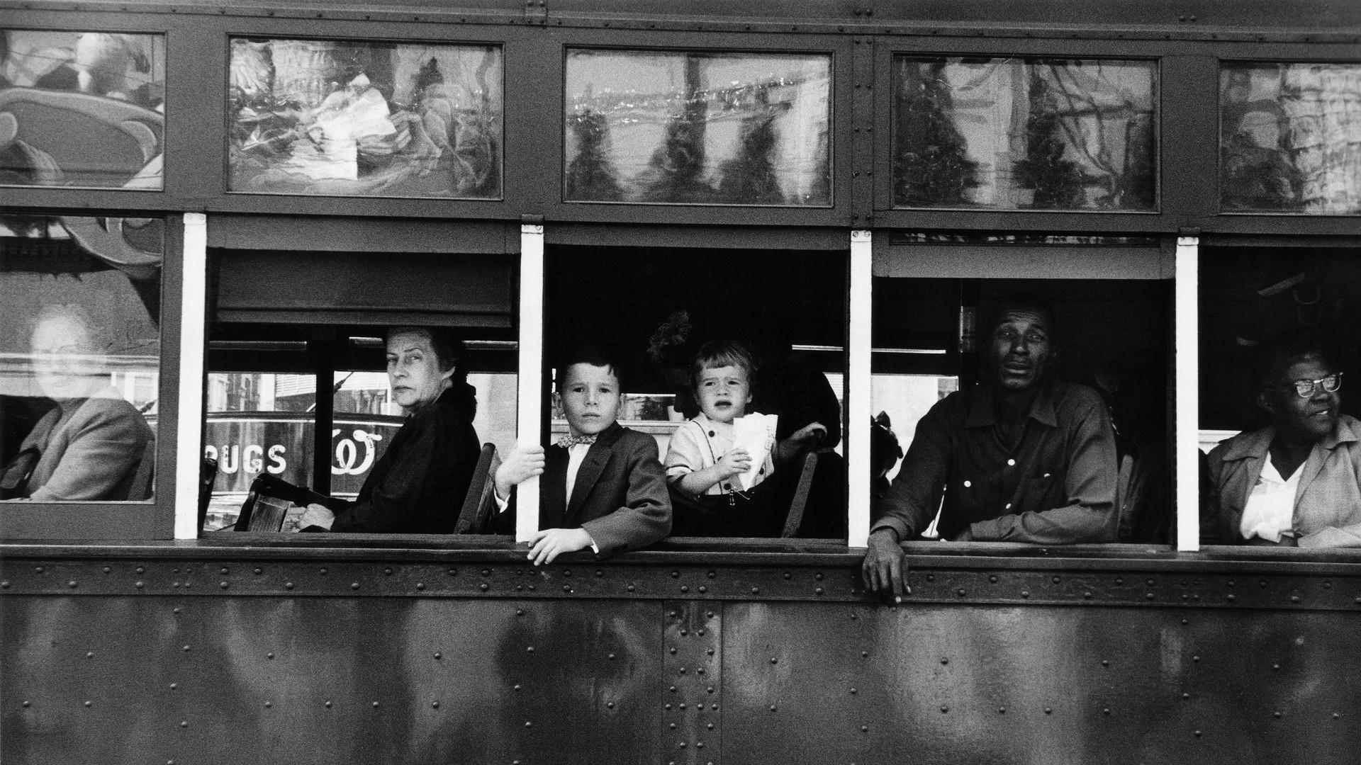 Robert Frank, Trolley - New Orleans, 1955-1956