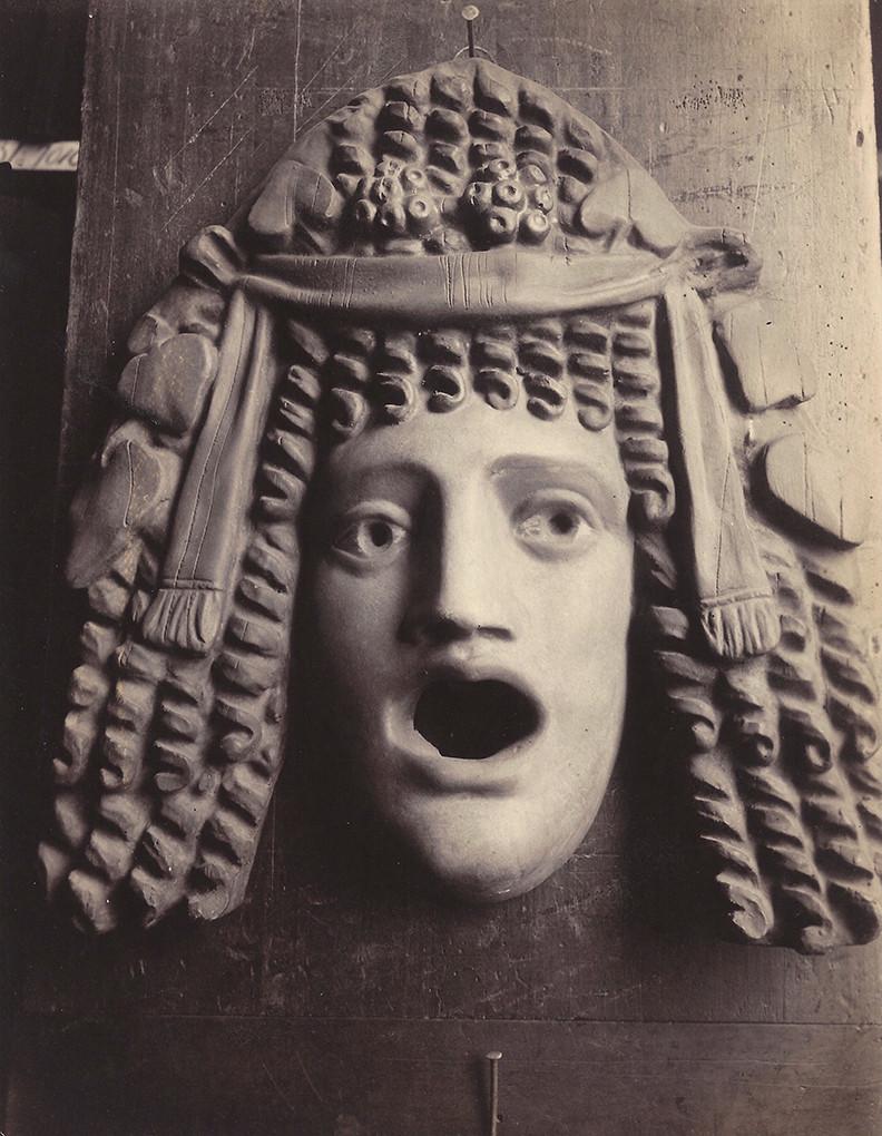 Eugène Atget, Masque Antique, 1923