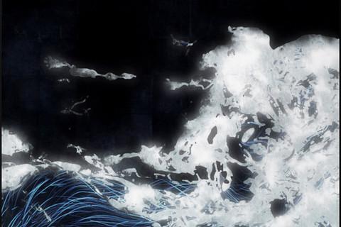 teamLab, Black Waves, 2016