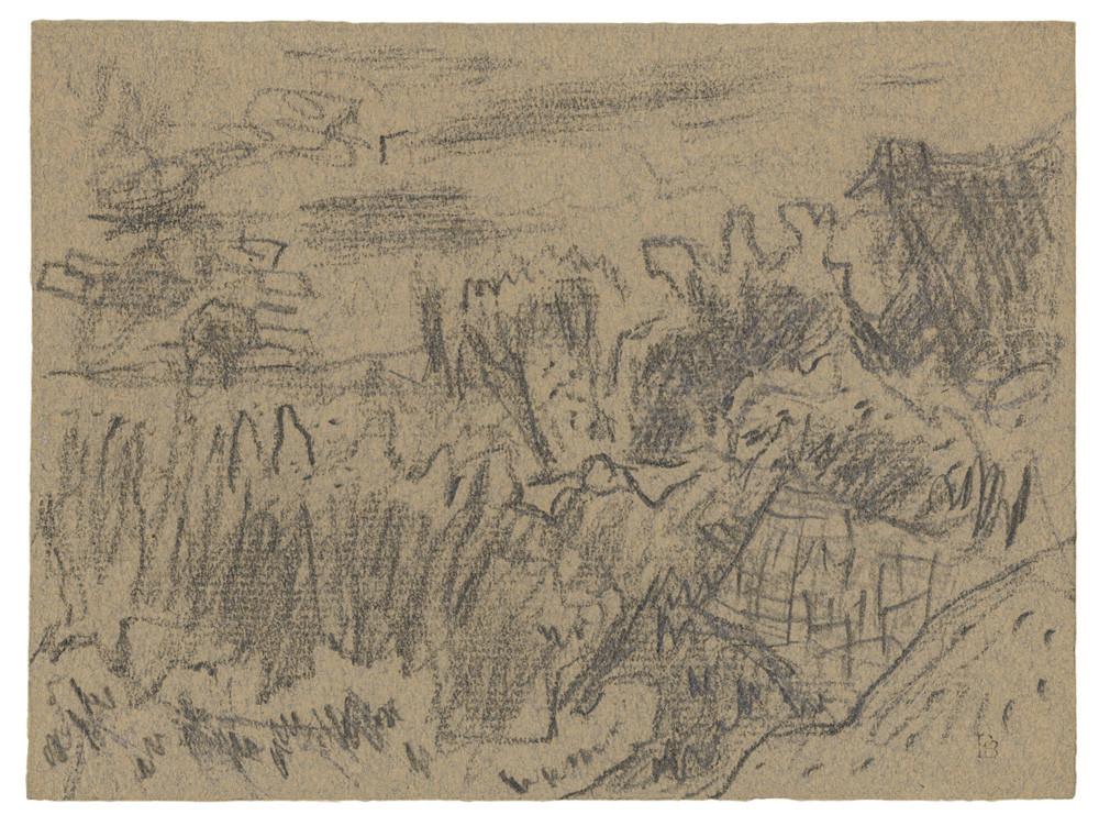 Pierre Bonnard, Hameau derrière les feuillages, n.d.