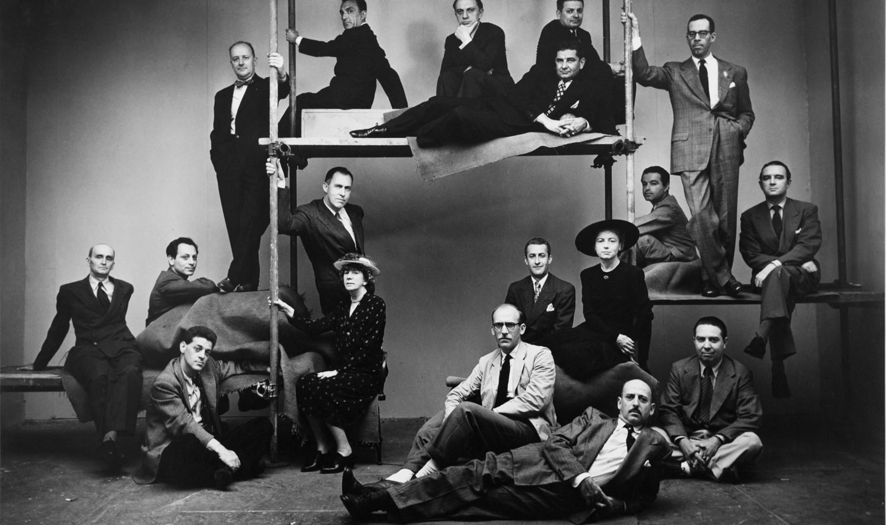 Irving Penn, New Yorker Artists, New York, 1947