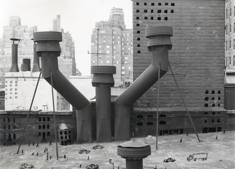 Saul Steinberg, Rooftop City, 1954