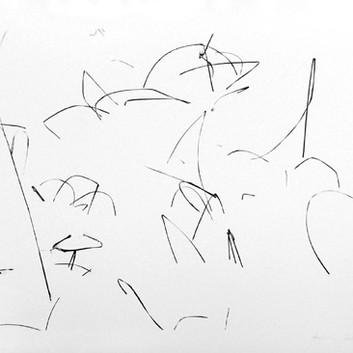 Harry Callahan, Weeds in Snow, Detroit, 1943