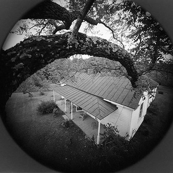 Emmet Gowin, View of Rennie Booher's house, Danville, Virginia, 1973