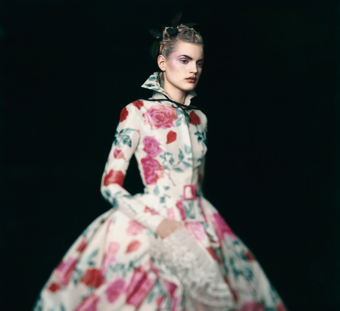 Paolo Roversi, Guinevere in a Christian Dior Haute Couture dress, Paris, 1996