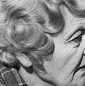 David Goldblatt, Woman with pierced ear. Joubert Park, Johannesburg., 1975