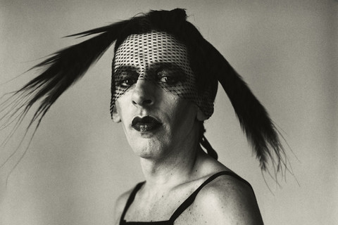 Peter Hujar, John Heys in Lana Turner's Gown (I), 1979