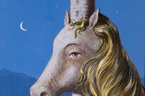 René Magritte (Belgian, 1898-1967), Le Couer du Monde, 1954