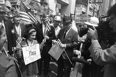 Garry Winogrand, Hard-Hat Rally, New York, 1969