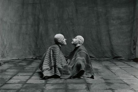Irving Penn, Two Men in White Masks, Cuzco, 1948