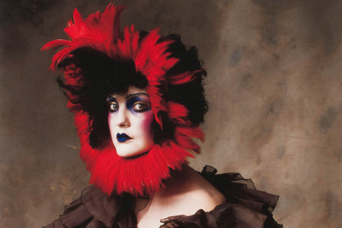 Irving Penn, John Galliano Silk Wool Jacquard Jacket with Red Feather Headpiece, New York, 2007