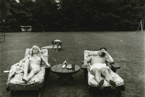 Diane Arbus, A family on their lawn one Sunday in Westchester, N.Y., 1968