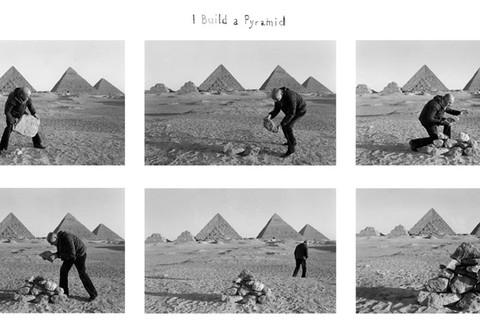 Duane Michals, I build a Pyramid, 1978