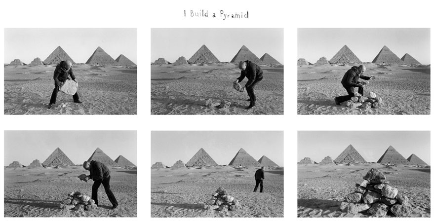 Duane Michals, I build a Pyramid, 1978