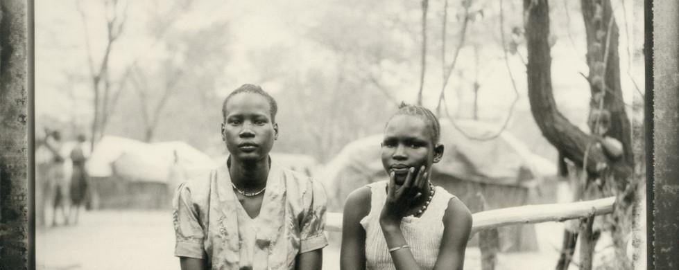 Fazal Sheikh, Rachel and Ochol, family section, Sudanese refugee camp, Lokichoggio, Kenya, 1992-93