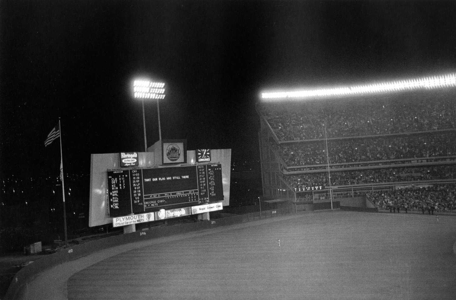 Tod Papageorge, Last game of the season (Chicago vs. New York), Shea Stadium, New York, October 1, 1970