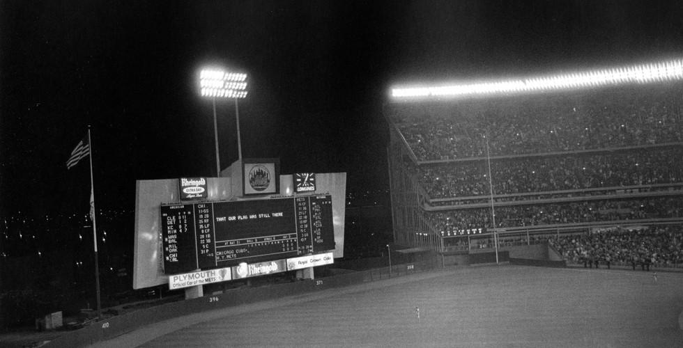 Tod Papageorge, Last game of the season (Chicago vs. New York), Shea Stadium, New York, October 1, 1970