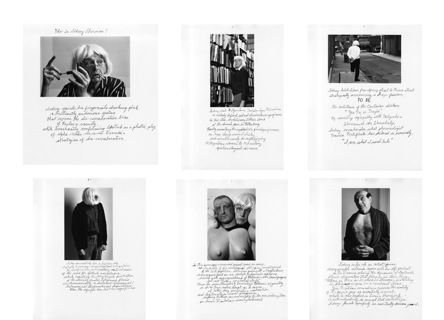 Duane Michals, Who is Sidney Sherman?, 2000