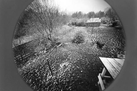 Emmet Gowin, Spring snow, Danville, Virginia, 1974