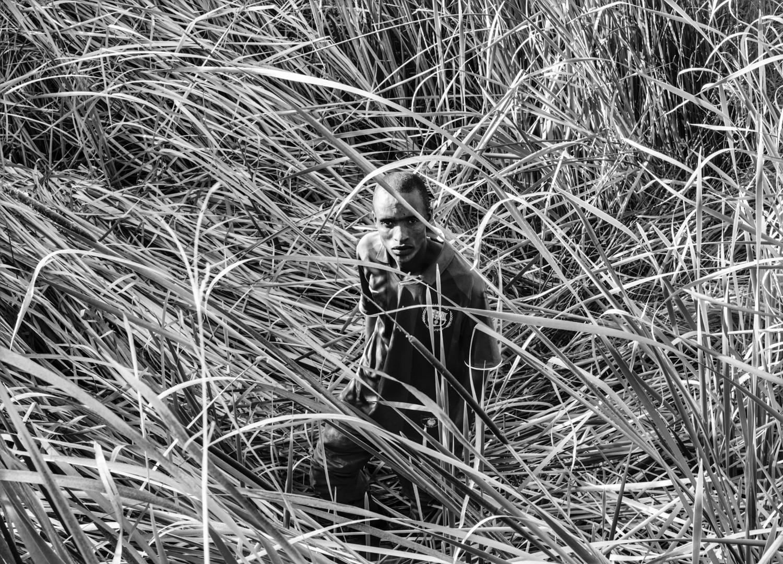 David Goldblatt, Paul Tuge where he hid at the Benoni Lake after shooting a policeman, 18 February 2010
